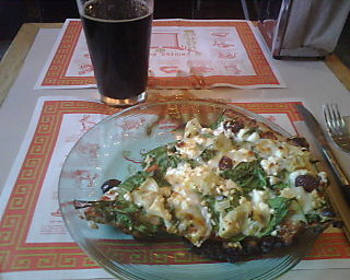 Pizza Research Institute, Eugene Oregon - Pizza Slice and Oatmeal Stout