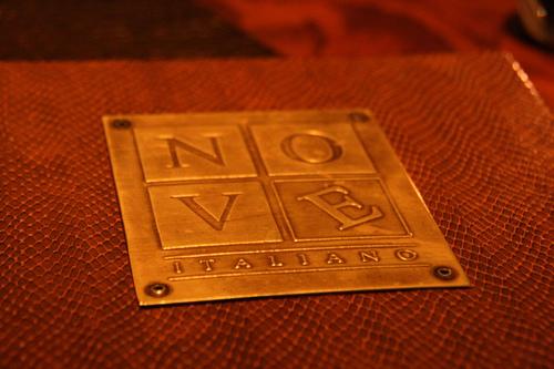 Nove Italiano at the Palms Hotel - The Menu Cover