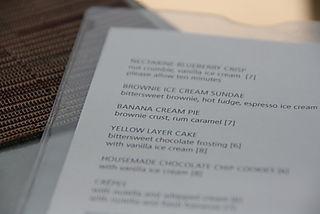 BLD - Dessert Menu