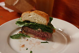 Fathers Office - Best LA Hamburger with Arugula, Blue Cheese and Caramelized Onion