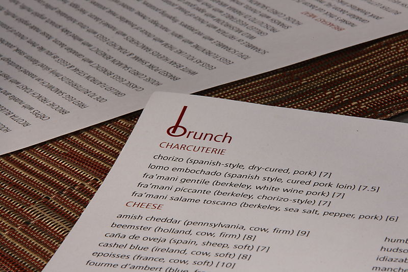 BLD - Brunch Menu