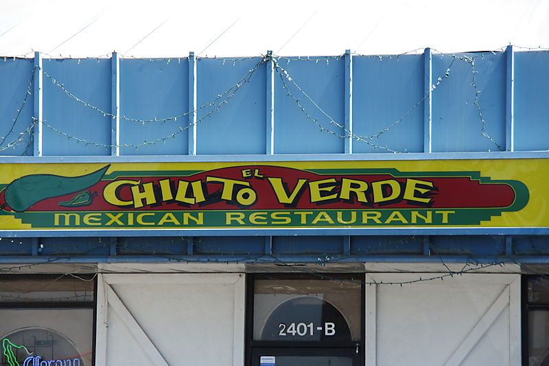 Chilito Verde Bakersfielf - Sign
