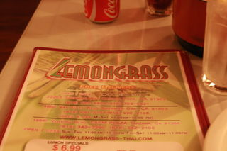 Lemongrass Thai - Menu Cover