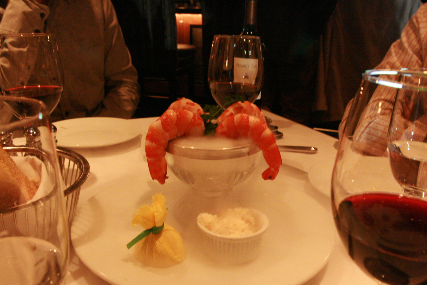 Mastro's Steakhouse - Shrimp Cocktail with Dry Ice
